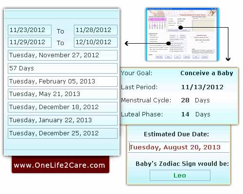 Pregnancy Calculator and Ovulation Calendar software